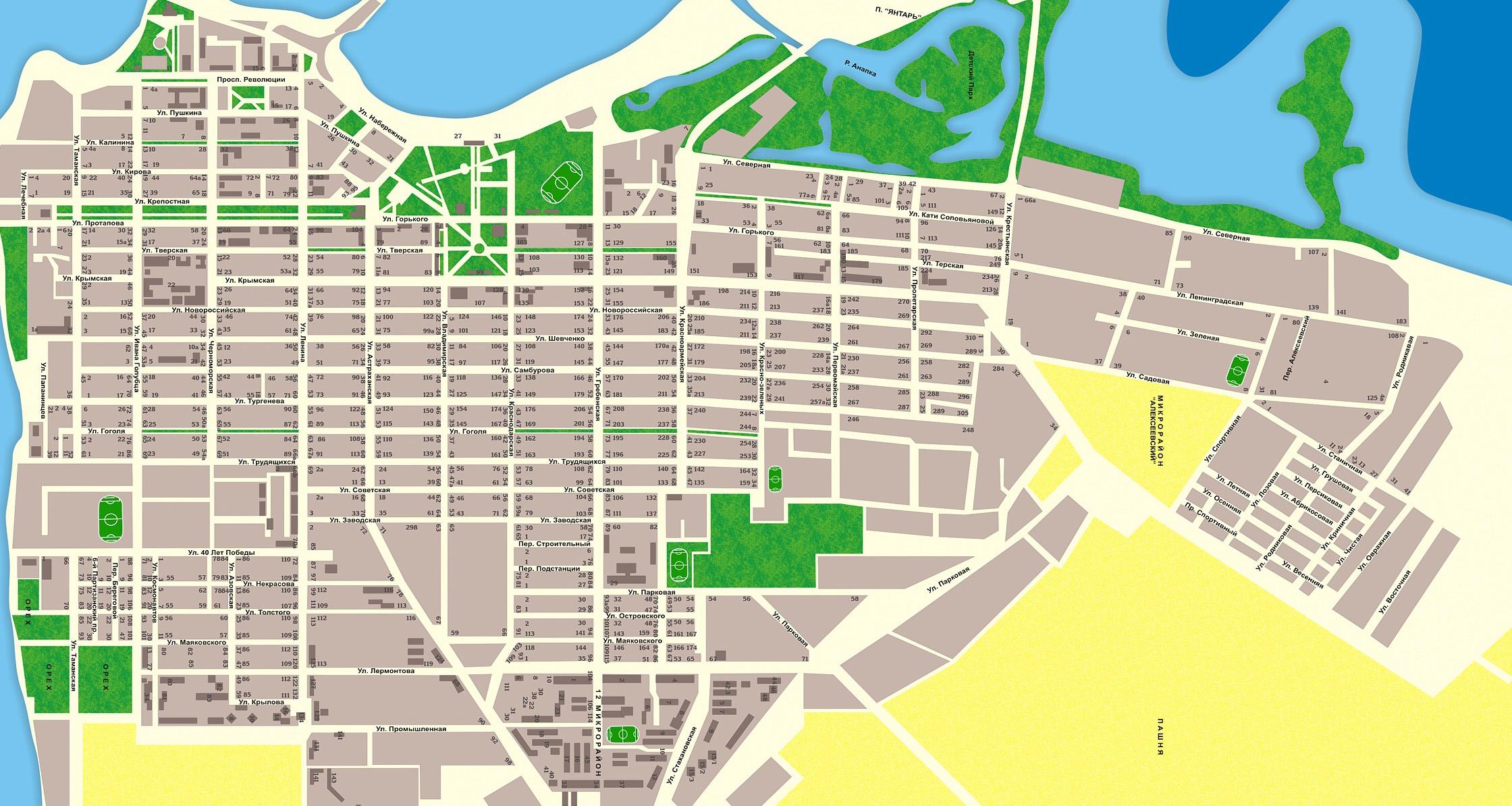 телефоны, карта с улицами и домами Чумаков